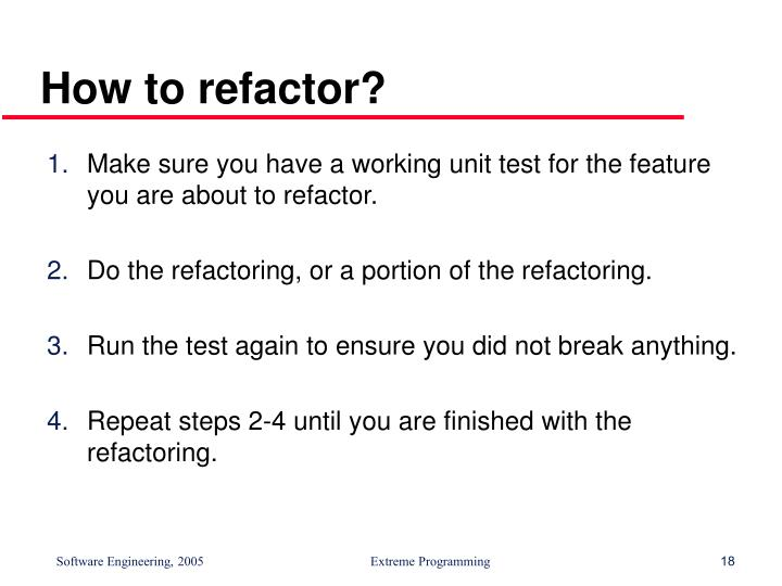 How to refactor?