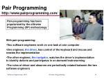 pair programming http www pairprogramming com
