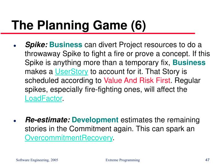 The Planning Game (6)