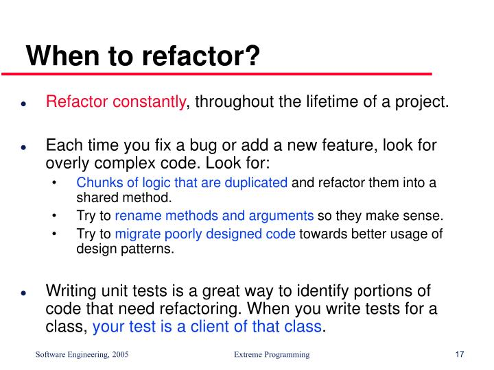 When to refactor?