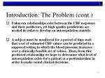 introduction the problem cont