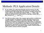 methods pls application details