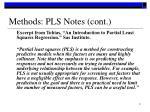 methods pls notes cont