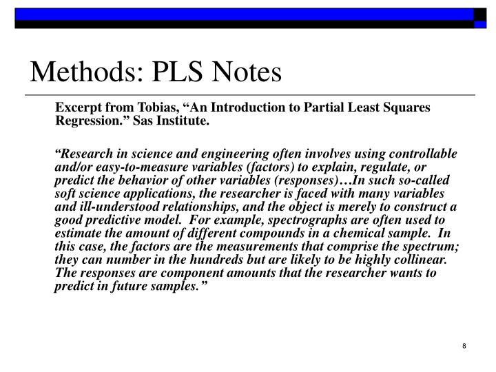 Methods: PLS Notes