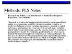 methods pls notes
