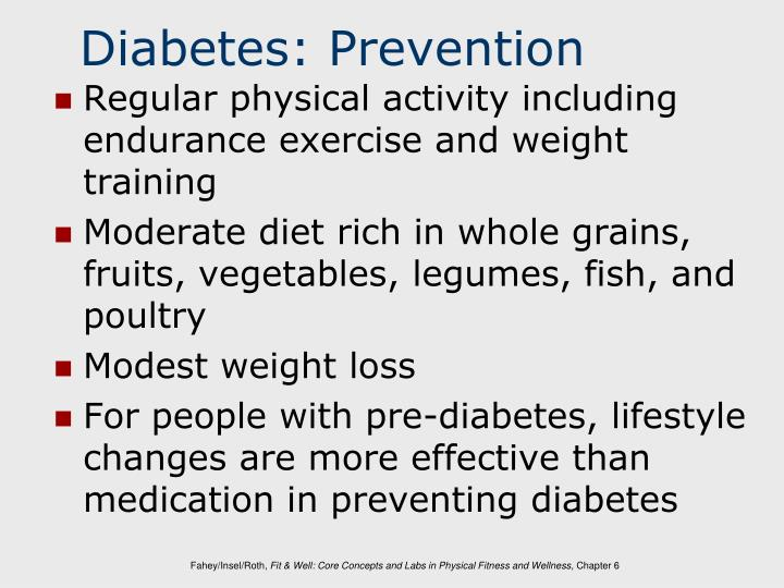 Diabetes: Prevention