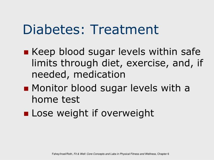 Diabetes: Treatment