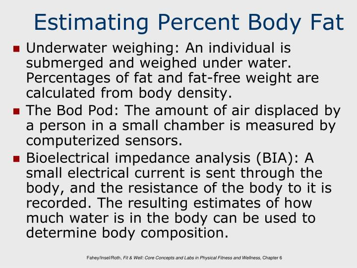 Estimating Percent Body Fat