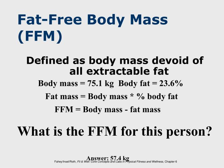 Fat-Free Body Mass (FFM)