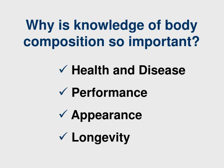 Why is knowledge of body composition so important?