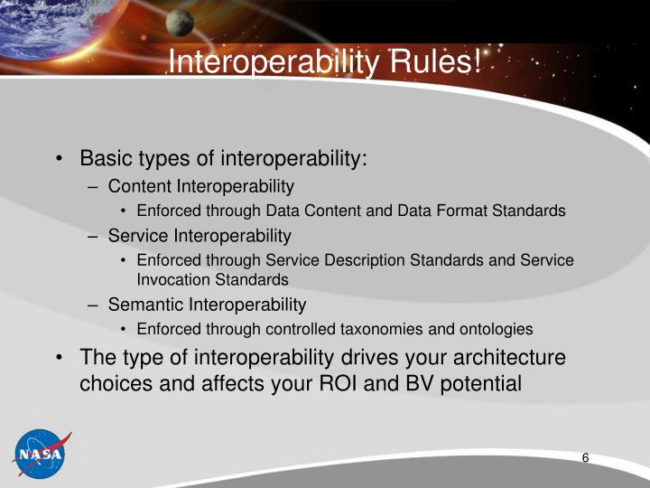 Interoperability Rules!