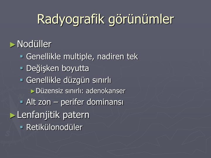 Radyografik görünümler