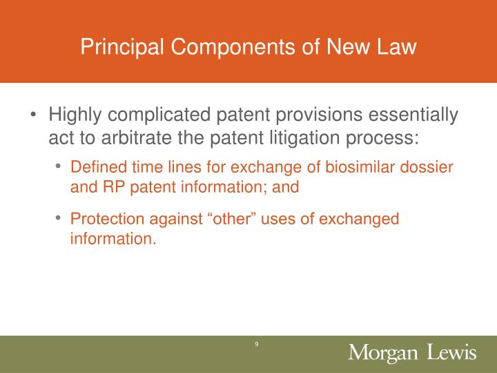 Principal Components of New Law