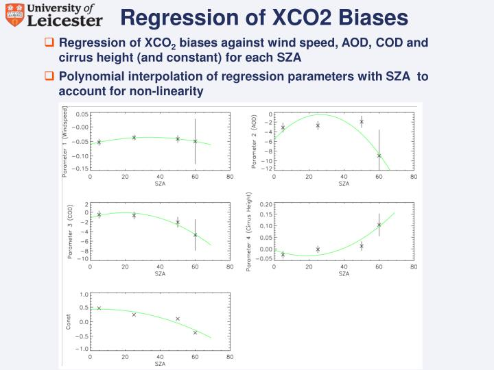 Regression of XCO2 Biases