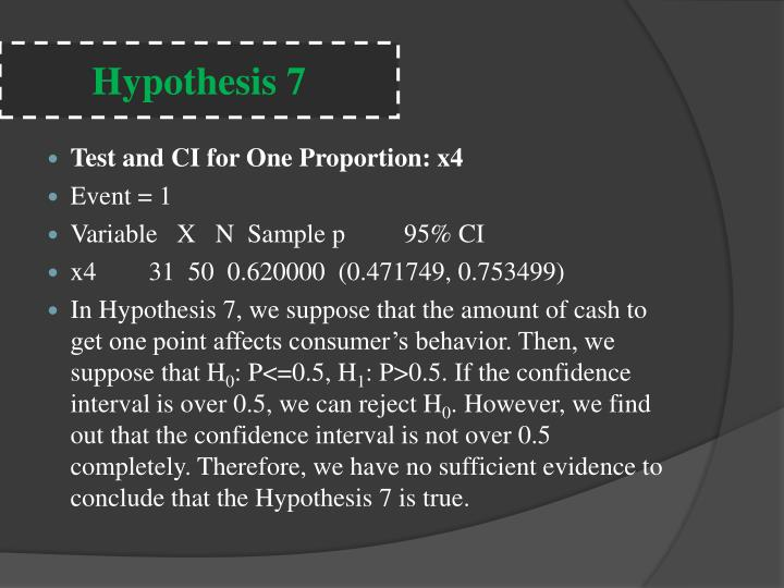 Hypothesis 7