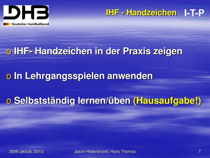 IHF - Handzeichen