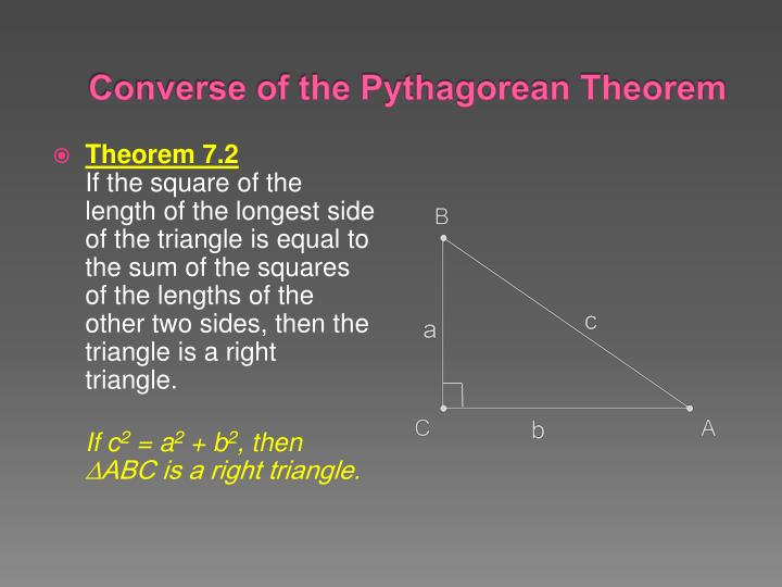 PPT - 7.1 Apply the Pythagorean Theorem PowerPoint ...