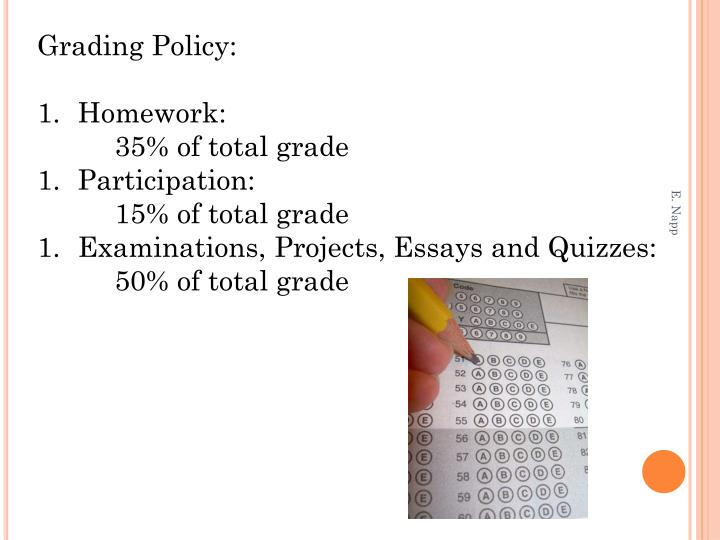 Grading Policy: