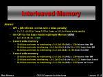 interleaved memory