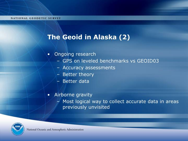 The Geoid in Alaska (2)