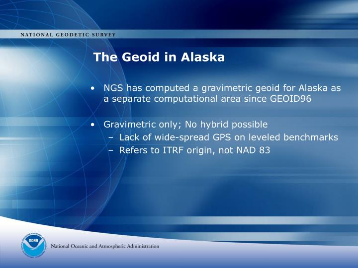 The Geoid in Alaska