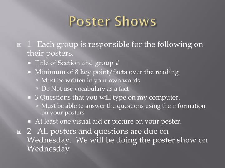 Poster Shows