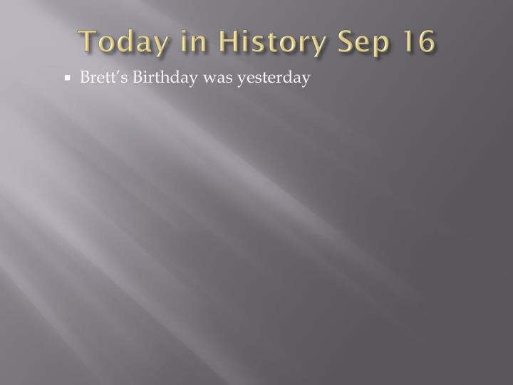 Today in history sep 16