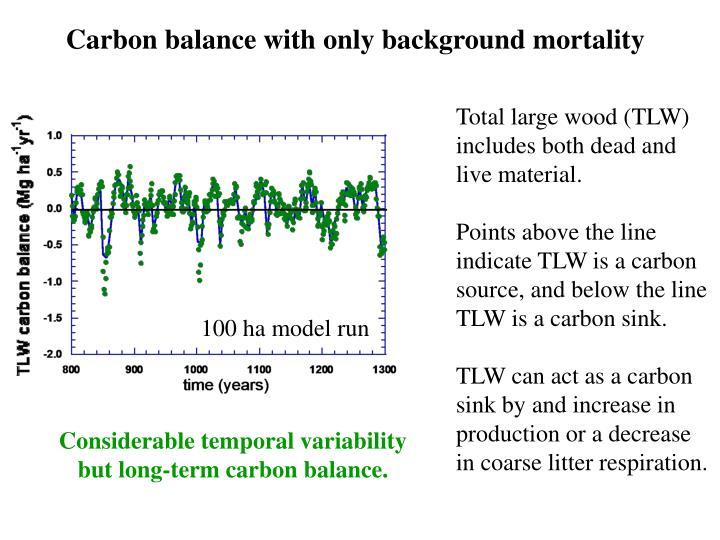 Carbon balance with only background mortality