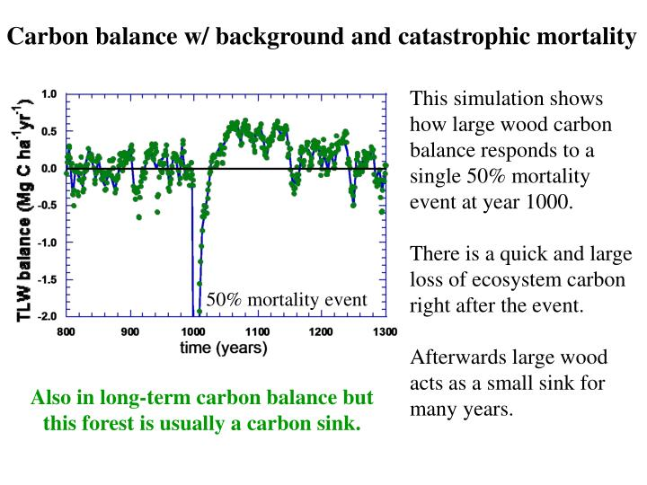 Carbon balance w/ background and catastrophic mortality