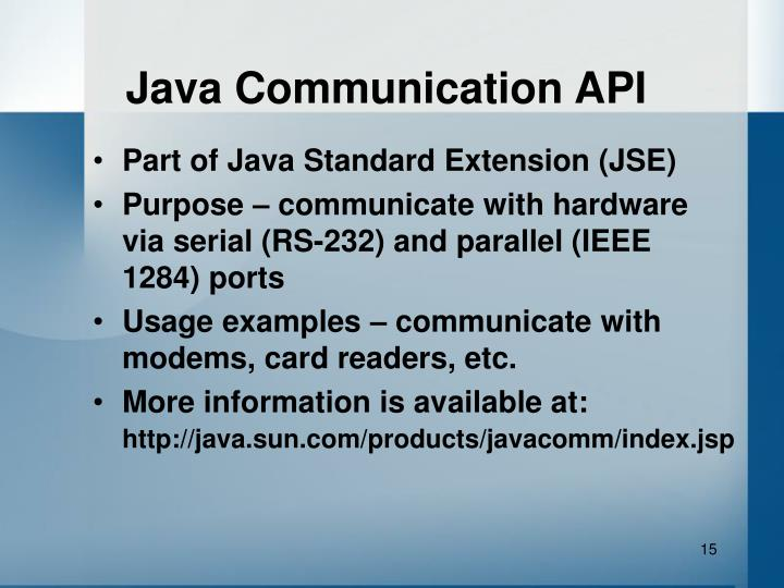 Java Communication API