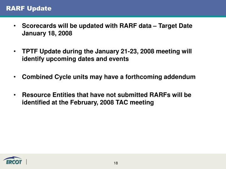 RARF Update