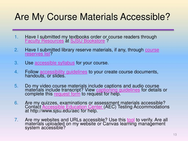 Are My Course Materials Accessible?