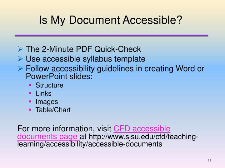 Is My Document Accessible?
