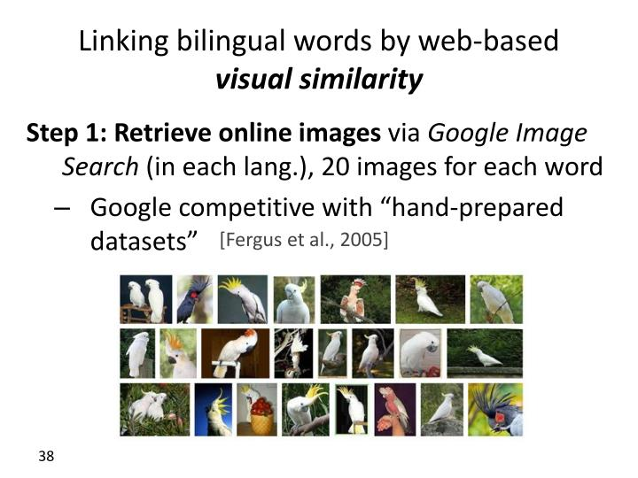 Linking bilingual words by web-based