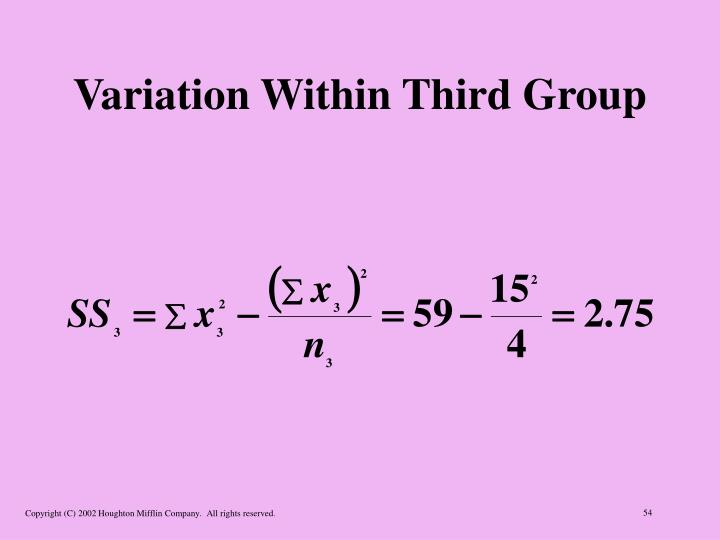 Variation Within Third Group