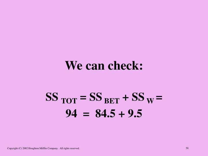 We can check: