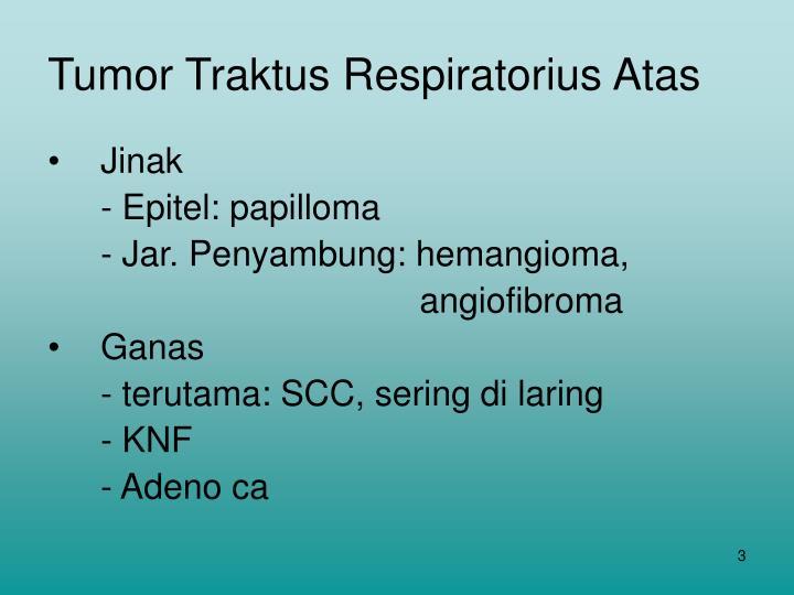 Tumor Traktus Respiratorius Atas