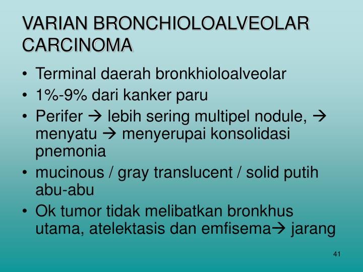 VARIAN BRONCHIOLOALVEOLAR CARCINOMA