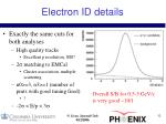 electron id details