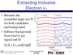 extracting inclusive electron v 2