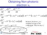 obtaining non photonic electron v 2