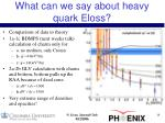 what can we say about heavy quark eloss