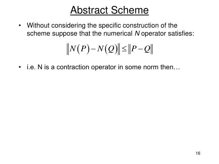 Abstract Scheme