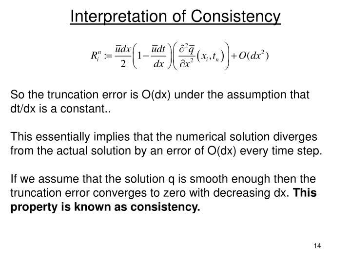 Interpretation of Consistency