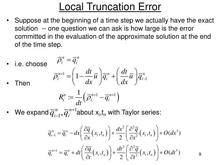 Local Truncation Error