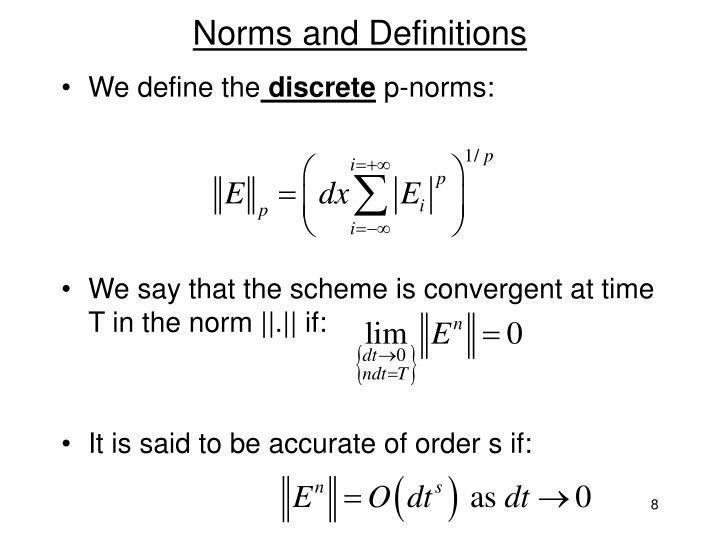 Norms and Definitions