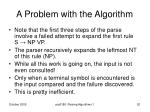 a problem with the algorithm