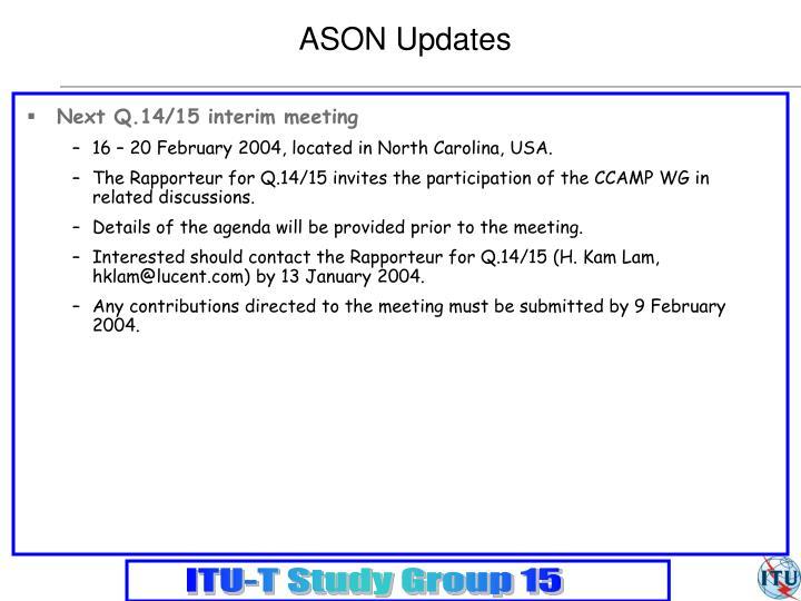 ASON Updates