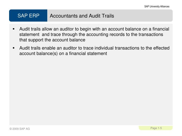 Accountants and Audit Trails