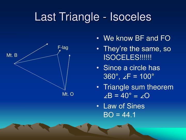 Last Triangle - Isoceles